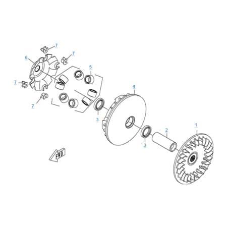 Ведущий шкив вариатора двигателя 196S-B