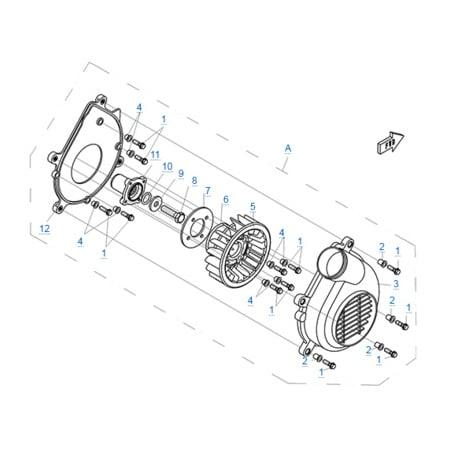 Вентилятор моторного отсека двигателя 196S-C