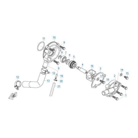Водяной насос двигателя 157MJ-3A