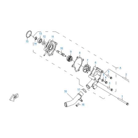 Водяной насос двигателя 196S-B
