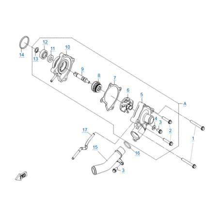 Водяной насос двигателя 196S-C