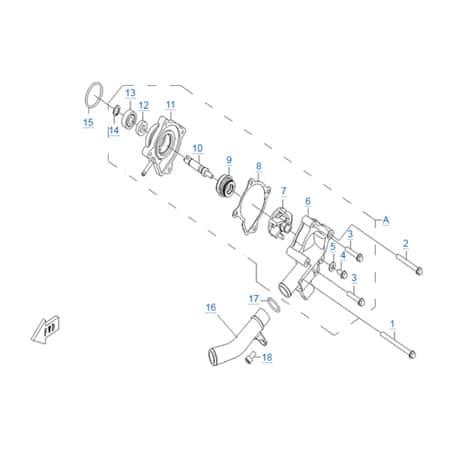 Водяной насос двигателя CF188-A
