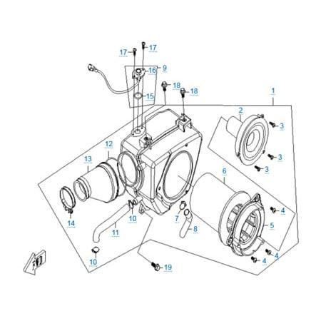 Воздушный фильтр двигателя 157MJ-2A