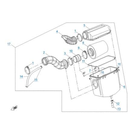 Воздушный фильтр двигателя 191R(A)