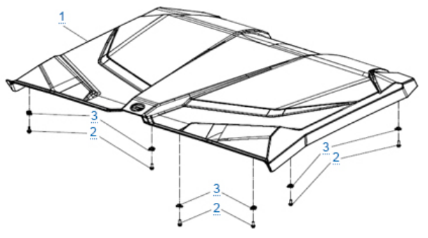 Крыша для ZFORCE 1000 SPORT EPS