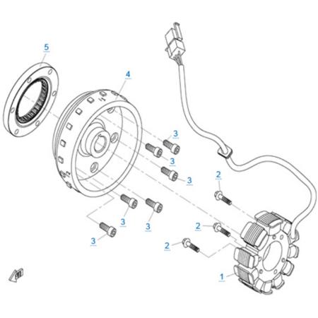 Магнето в сборе двигателя 2V91Y (ZFORCE 1000 Sport)