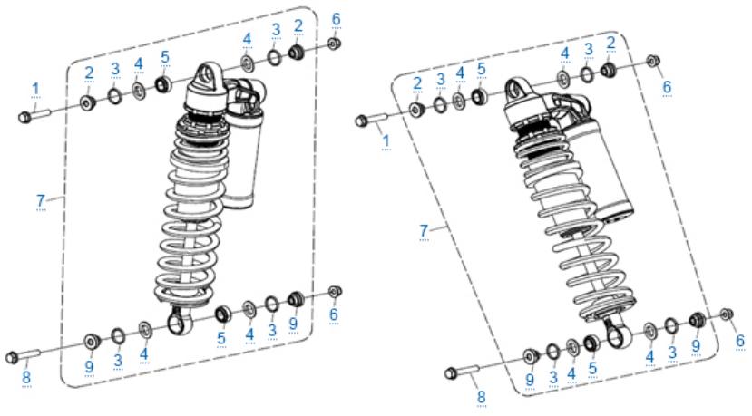 Передние амортизаторы для ZFORCE 1000 SPORT EPS