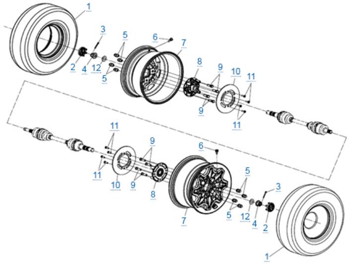 Передние колеса для ZFORCE 1000 SPORT EPS