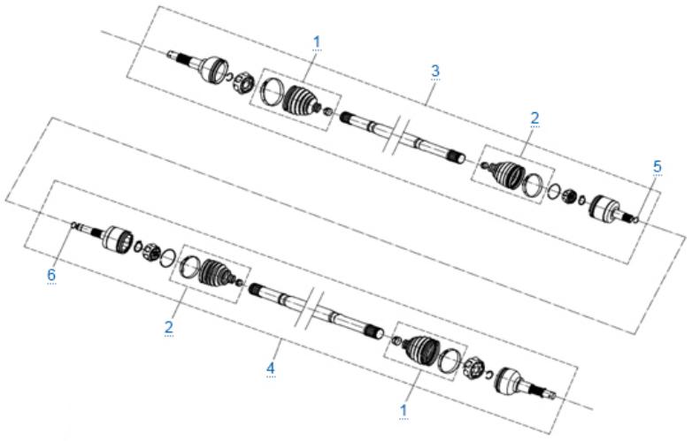 Передний привод в сборе (odm) для ZFORCE 1000 SPORT EPS