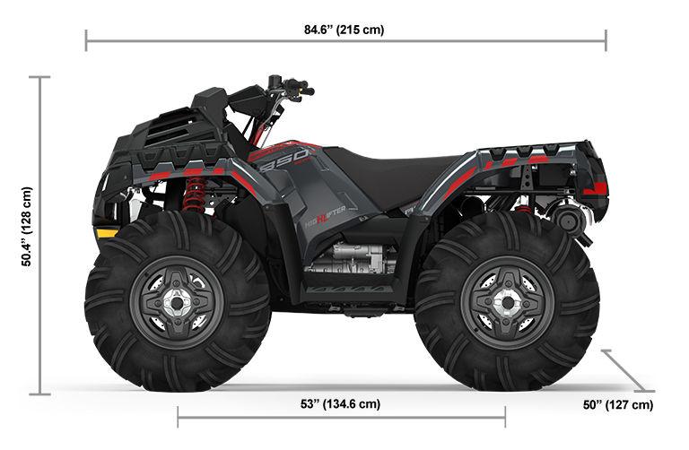 2022 Квадроцикл Polaris Sportsman 850 High Lifter - Stealth Gray